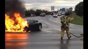 Tesla S Fire